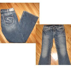 SILVER SUKI MID-RISE BOOT BLUE JEANS SIZE 31 (10)